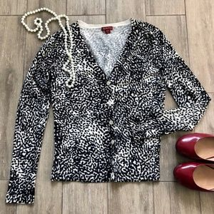 Merona Animal Print Cardigan V Neck Leopard